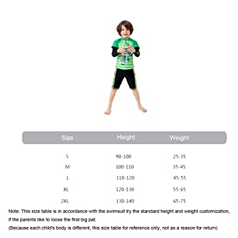 SHRJJ Para Niños Traje De Baño Chico Split De Dos Piezas De Los Niños De Manga Larga Shorts Pantalones Protectores Solares De Secado Rápido La Playa De ...