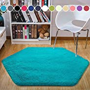 junovo Ultra Soft Rug for Nursery Children Room Baby Room Home Decor Dormitory Hexagon Carpet for Playhouse Pr