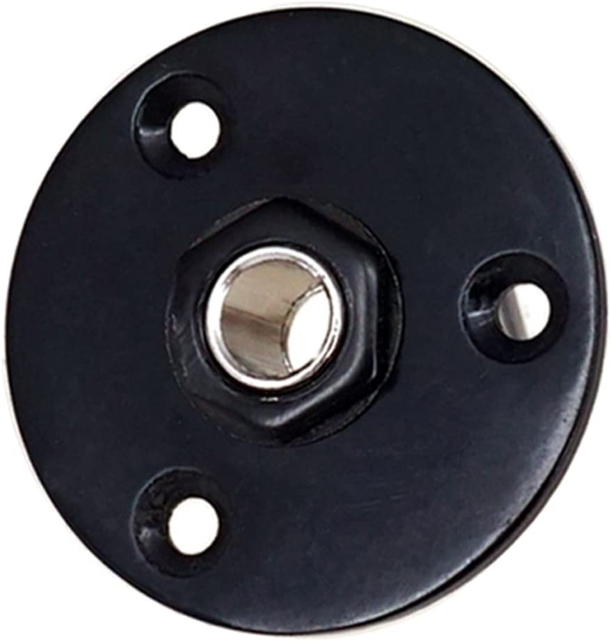 MonkeyJack Round Plate Guitar Socket Output Jack 1//4 6.35mm for Electric Guitar Black