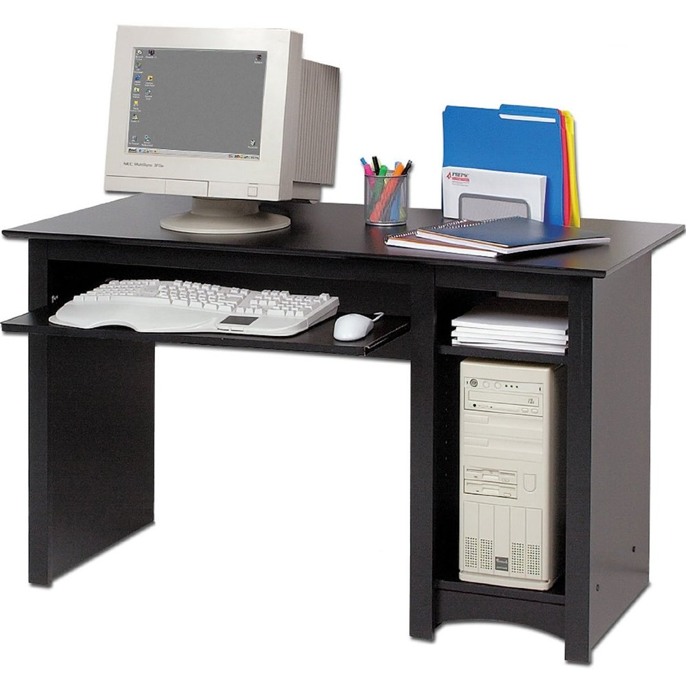 MD Group Sonoma Computer Desk - Black, 29'' x 23.5'' x 76 lbs