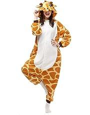 AliFier Unisex Giraffe Animals Onesie Halloween Costumes Cosplay Pajamas