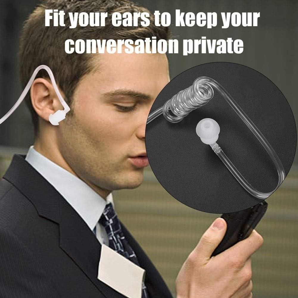 Maxmartt K-Head Air Duct Walkie-Talkie in-Ear Headset Acoustic Tube Earpiece with PTT Button