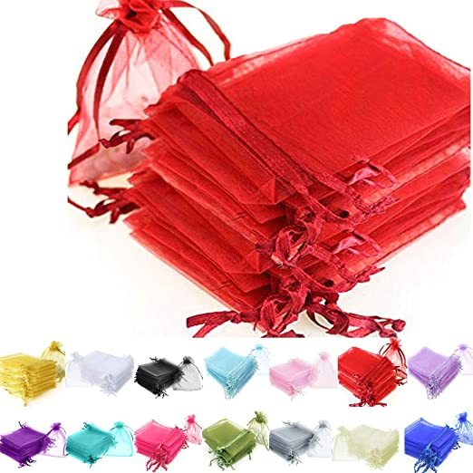 25pcs Premium Organza Gift Bags 7x9cm Wedding Party Supply Jewelry Pouches