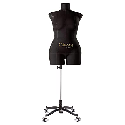 Classy Forms Fully Pinnable Soft Mannequin Torso Eva Black Sewing Forms for  Women Dress Form Plus Size 14 XXL