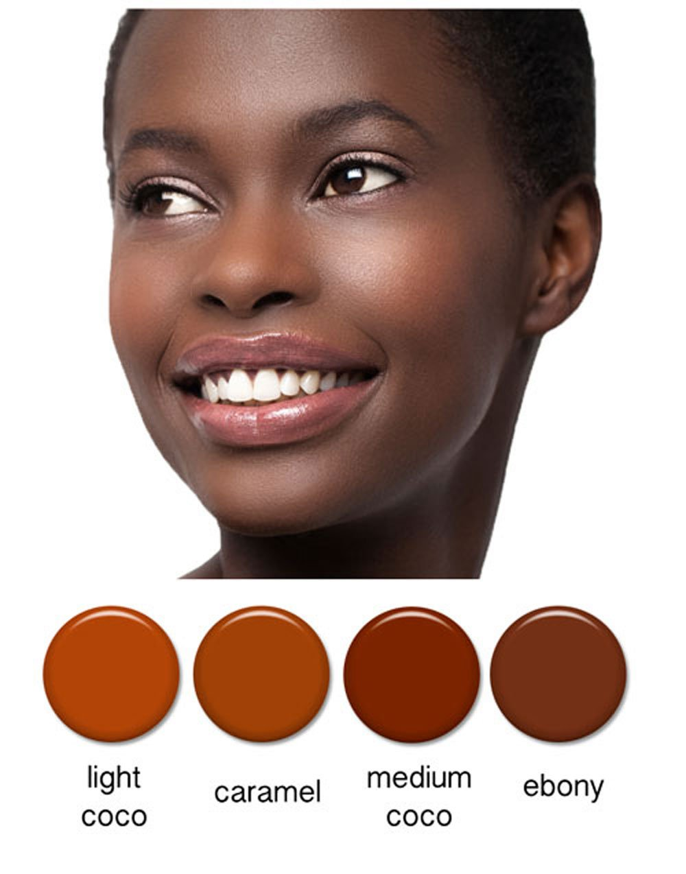 Art of Air 4pc DARK Complexion Professional Airbrush Cosmetic Makeup Set 1/2 oz bottles