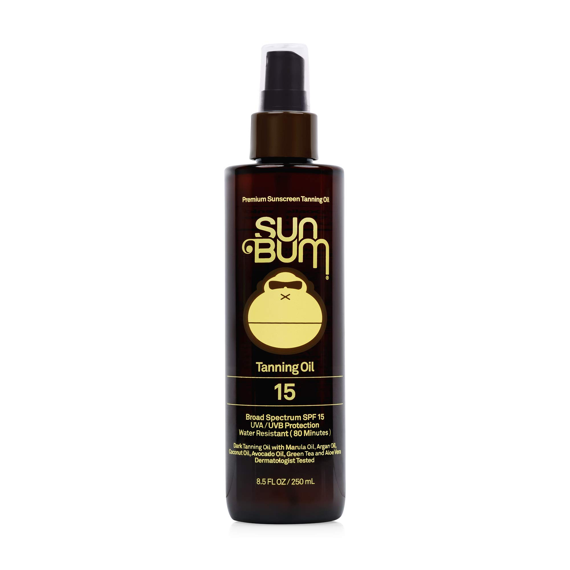 Sun Bum SPF 15 Moisturizing Tanning Oil | Broad Spectrum UVA/UVB Protection | Coconut Oil, Aloe Vera, Hypoallergenic, Paraben Free, Gluten Free, Vegan | 8.5 oz Bottle, 1 Count