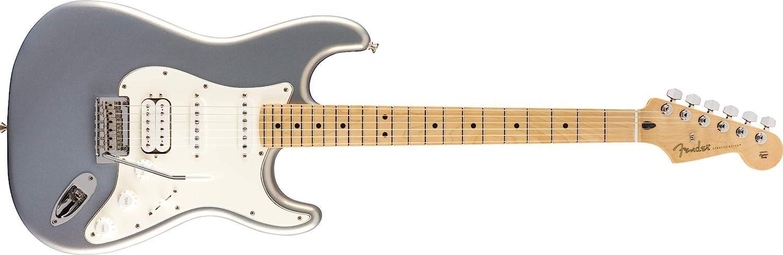 Fender144522581 Serie jugador Stratocaster HSS - Diapasón de arce - Plata, completo