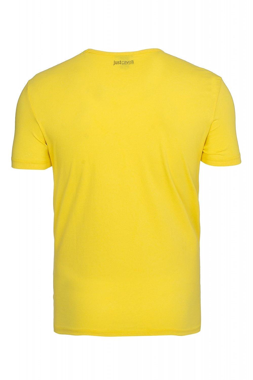 Amazon.com: Just Cavalli Tiger Mens T-Shirt Yellow A44 102C, Size:M: Clothing