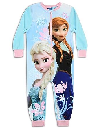 46de2dac49 Disney Frozen carácter forro polar Onesie pijama PJ de tamaño UK 2 - 8 años  azul azul 5 años  Amazon.es  Ropa y accesorios