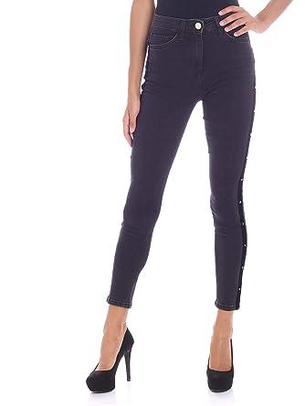 separation shoes 1a008 54072 Elisabetta Franchi Women's PJ03D86E2110 Black Cotton Jeans ...