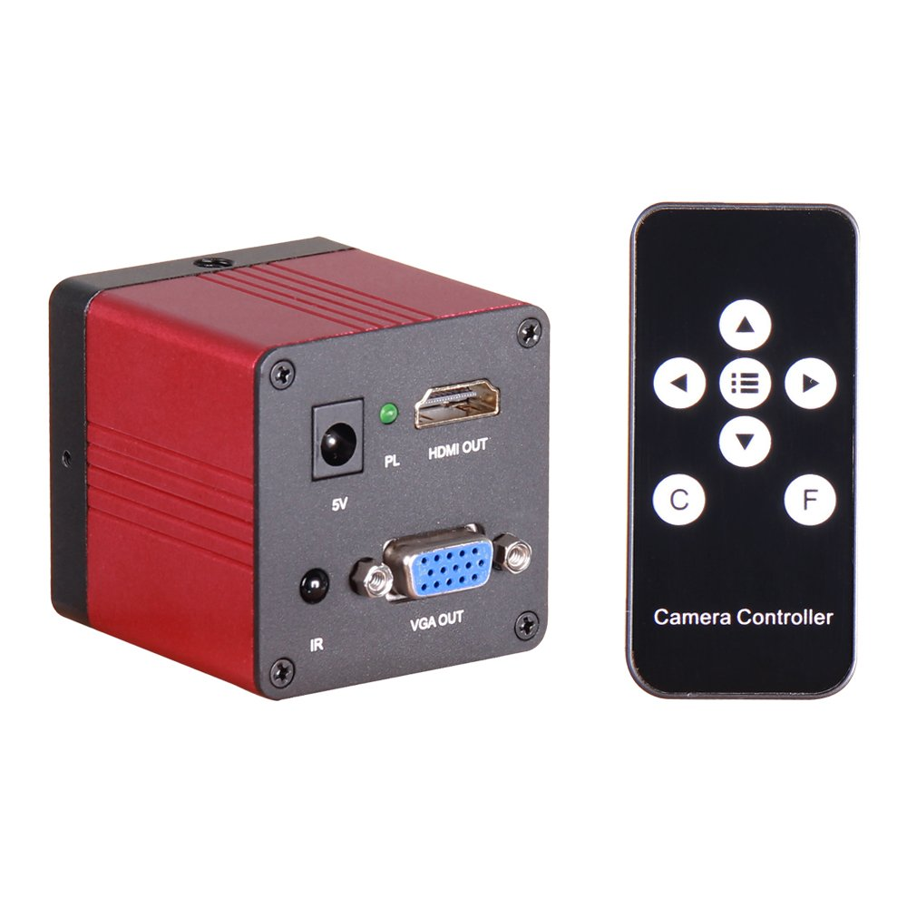 1080p 60 fps Industrialビデオ顕微鏡カメラHDMI VGAデュアル出力for携帯電話修復   B078Z6V8RH