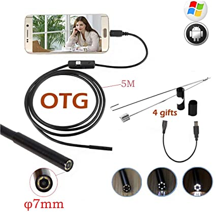Amazon com: SSCJ 7mm USB-C Endoscope, Type C-C Periscope Camera 5m