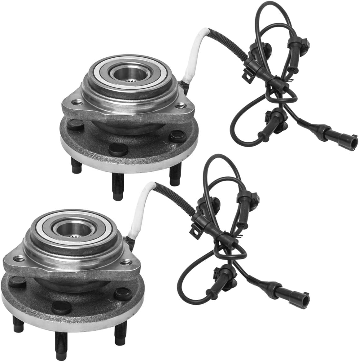 4WD Models Pair Front Wheel Hub and Bearing Assembly AUQDD 515052 x2 5 Lug W//ABS Compatible With 2003 04 05 06 07 08 2009 Mazda B4000 Ford Ranger 03-05 Explorer Sport Trac Exc. Explorer Sport