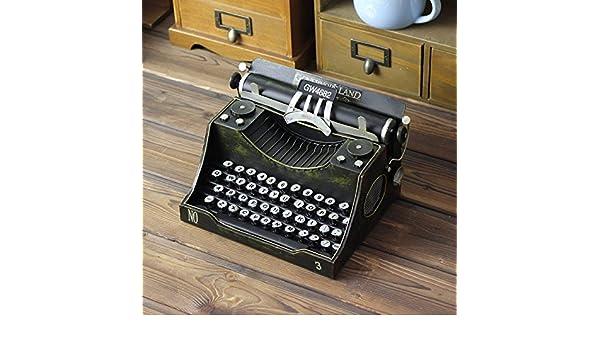 WYJ Diversión micro manual de máquina de escribir página nostálgico retro metal decor Reina Artesanias adornos: Amazon.es: Hogar