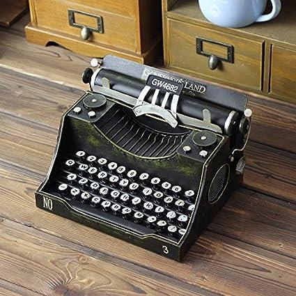 WYJ Diversión micro manual de máquina de escribir página nostálgico retro metal decor Reina Artesanias adornos