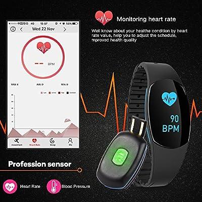 Rayhome Fitness Tracker with Heart Rate Monitor Sleep Monitor Smart Pedometer Watch Activity Tracker Step Tracker Sleep Tracker Calorie Counter, Pedometer Watch Kids Women Men