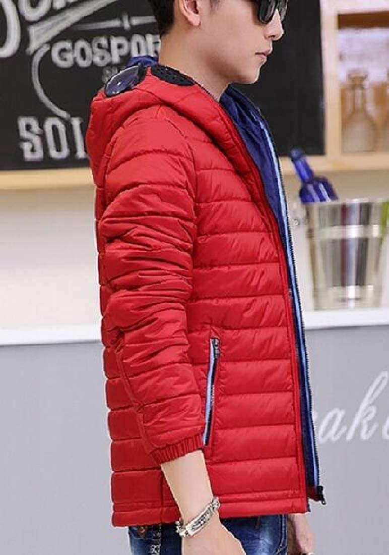 omniscient Mens Warm Lightweight Outwears Down Puffer Packable Quilted Hood Coats
