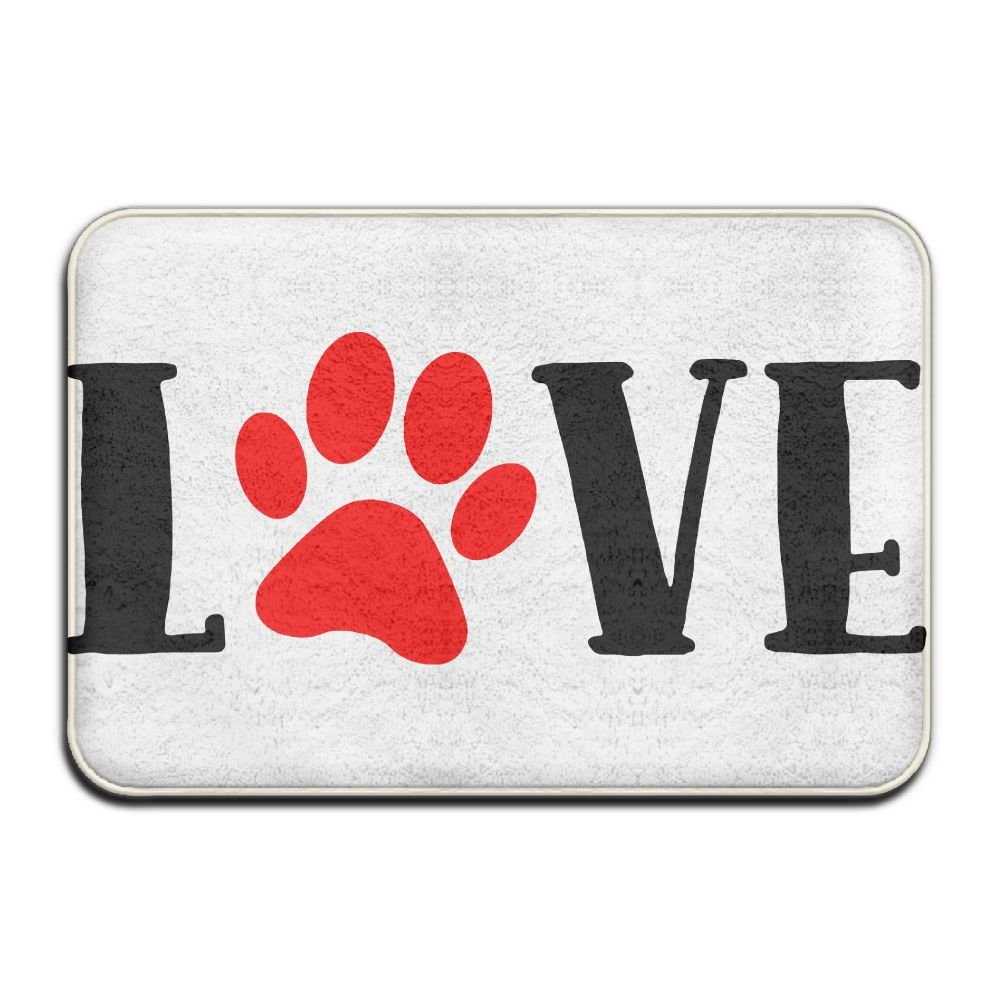 KOESBY-MT Luxury Hotel Kitchen Mat Love Paw Washable Bath Mats by KOESBY-MT (Image #1)