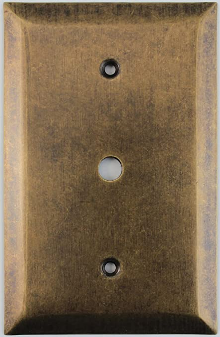 Jumbo Stamped Aged Antique Brass One Gang Cable TV Wall Plate - - Amazon.com