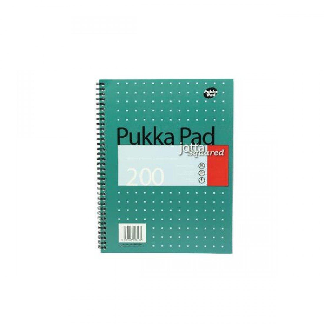 Pukka Pad Jotta-Quaderno/blocco Note in formato A4, a quadretti, confezione da 3 JM018SQ
