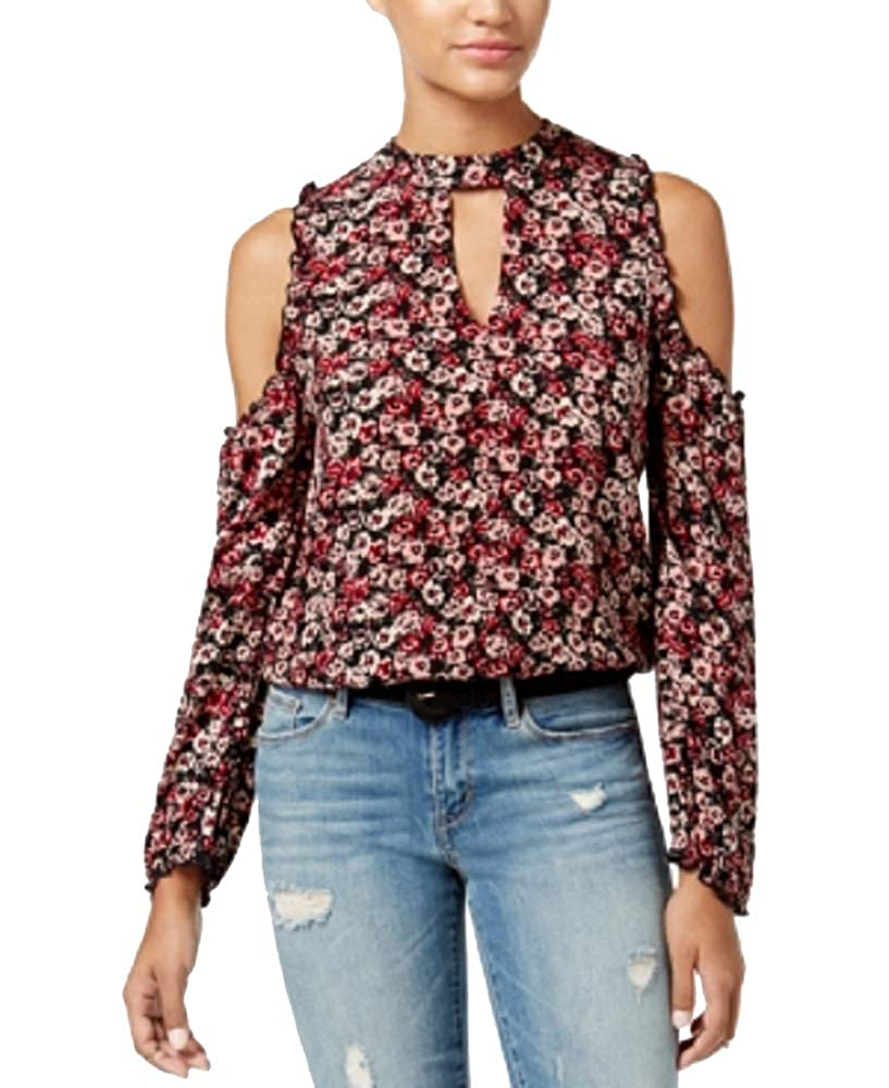 American Rag Juniors Printed Cold-Shoulder Top
