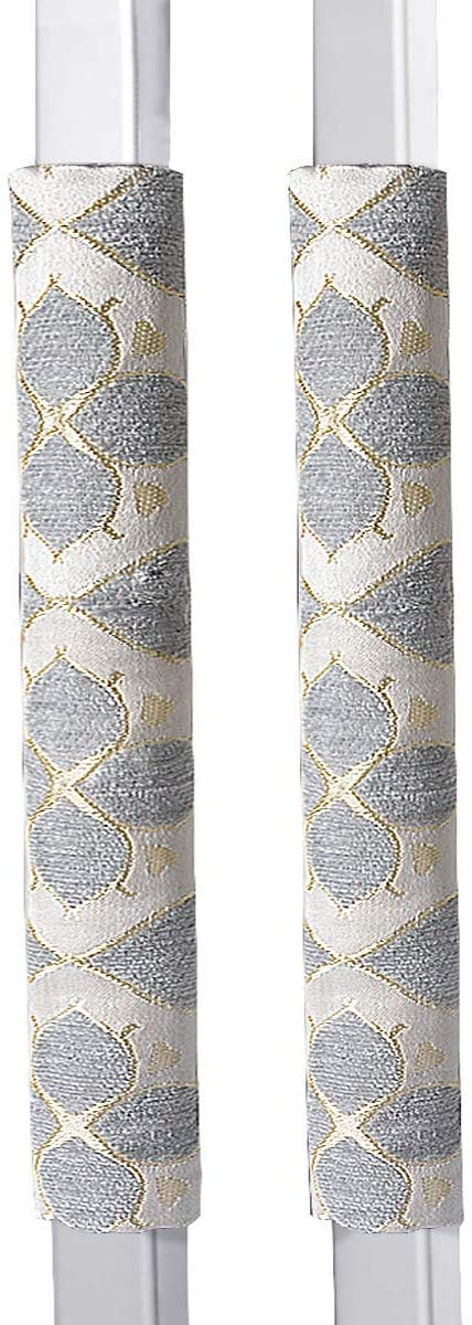 """OUGAR8 Refrigerator Door Handle Covers Handmade Decor Protector for Ovens, Dishwashers.Keep Your Kitchen Appliance Clean From Smudges, Food Stains (12""""L3.75""""W, Quatrefoil)"""