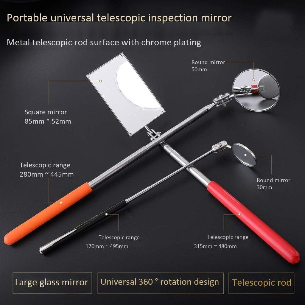 Size : 30mm Hfyg Sicherheitsspiegel Inspektionsspiegel Teleskop Reflektor Schwei/ßen Chassis-Kontrollspiegel Handwerkzeug