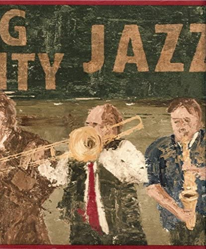 壁紙ボーダーNew Orleans Big Easy Jazzグリーン& Rust
