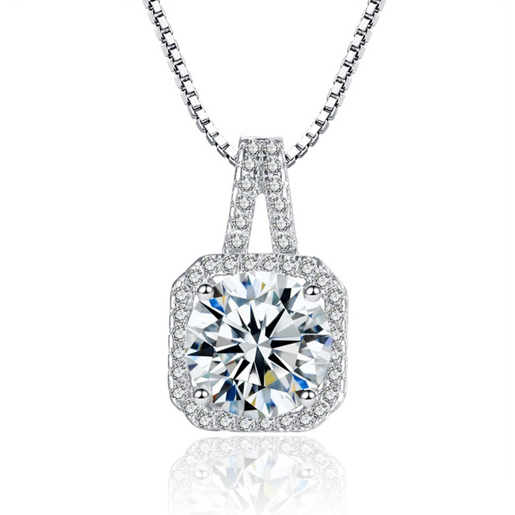 Tycherous Ladies fashion Necklace silver 925 Pendant women Cubic Zirconia Mother's Day Gift