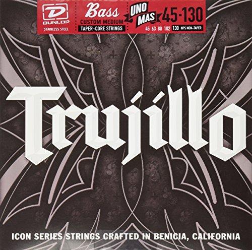 - Dunlop RTT45130T Robert Trujillo Icon Series Signature Bass Strings w/Tapered Core, Medium, .045-.130, 5 Strings/Set