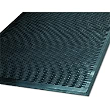 Guardian Clean Step Scraper Outdoor Floor Mat, Natural Rubber, 4'x 6', Black, Ideal for any outside entryway, Scrapes Shoes Clean of Dirt and Grime