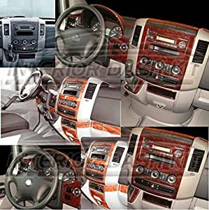 mercedes sprinter 2500 3500 crd interior burl wood dash trim kit set 2012 2013 2014. Black Bedroom Furniture Sets. Home Design Ideas
