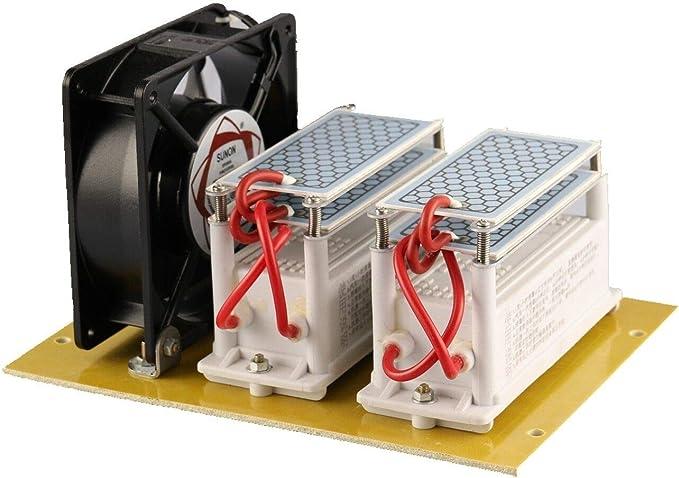 JIAN YA NA 220V 20G 20000mg / h Generador de Ozono Purificador de Aire de Cerámica Generador de Ozono Ozonizador ...