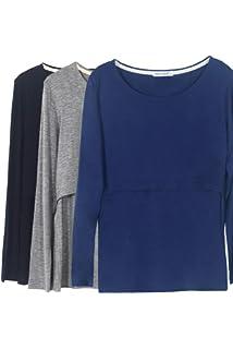 1309668c41676 Smallshow Nursing Tops Women's Maternity Long Sleeve Breastfeeding Shirts