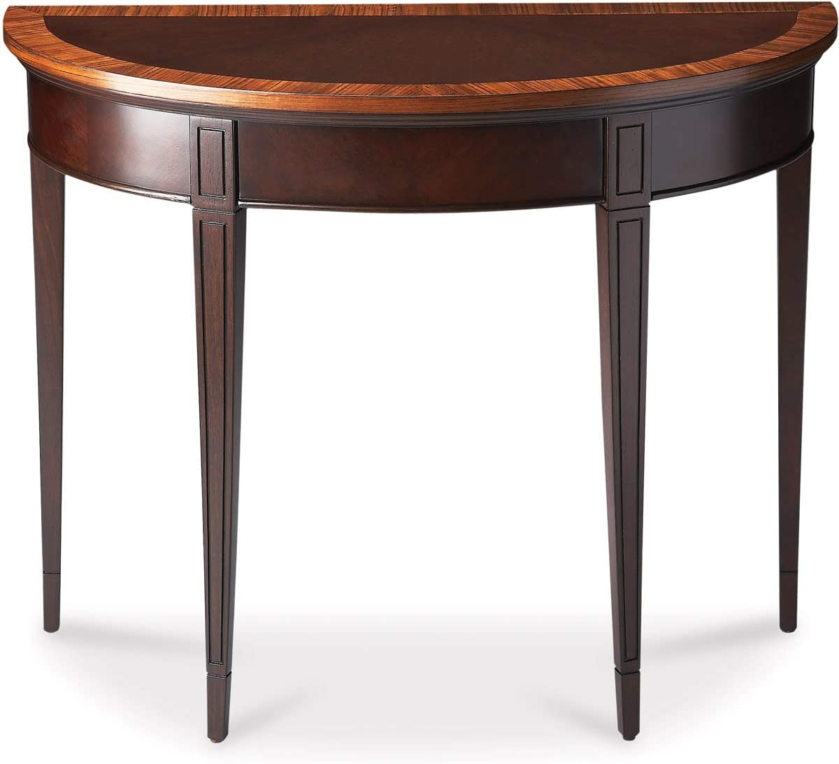 BUTLER HAMPTON CHERRY NOUVEAU DEMILUNE CONSOLE TABLE