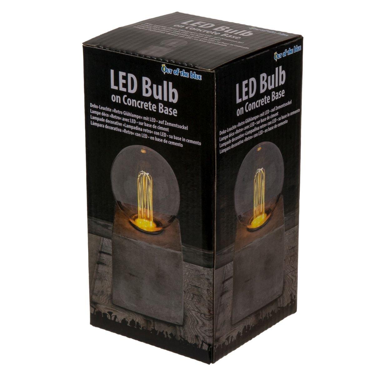 Lámpara decorativa, Retro con la bombilla LED en cemento Socket: Amazon.es: Iluminación