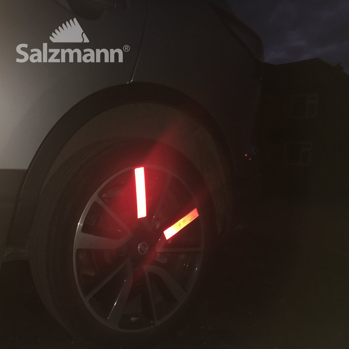 Waterproof Made with 3M Diamond Grade Pack of 4 All-Weather Reflective Stickers Salzmann Reflective Diamond Grade Sticker