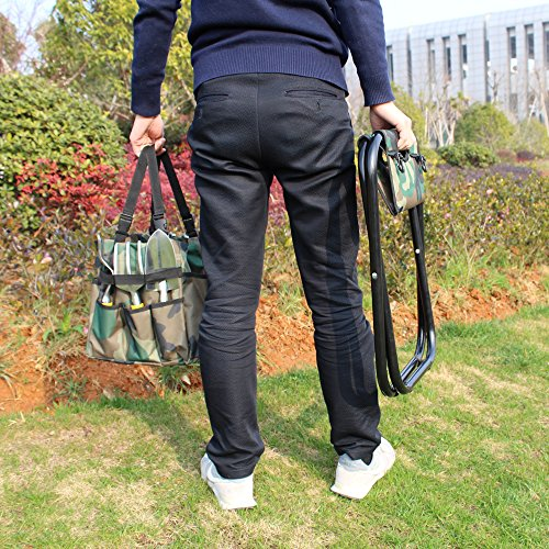 sornean Garden Folding Seat with Detachable Tote,without Tools-Best Gift for Gardeners by sornean (Image #3)
