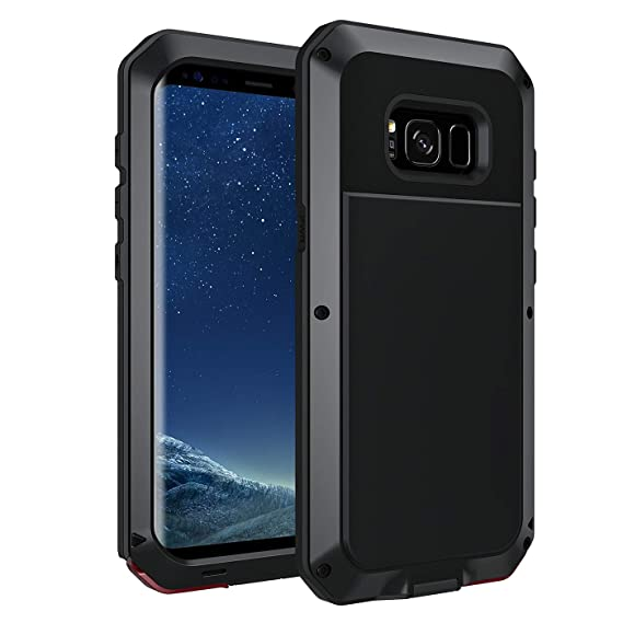 online store 70a09 26060 Seacosmo Protective Case for Galaxy S8, Full Body Military Rugged Heavy  Duty Shockproof Dual Layer Bumper Case Cover(Without Screen Protector),  Black