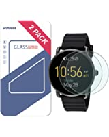 Fossil Q Wander Gen 1 Screen Protector, Wimaha 9H Tempered Glass Screen Protector for Fossil Q Wander Gen 1 Ultra Clear and Scratch Resistant