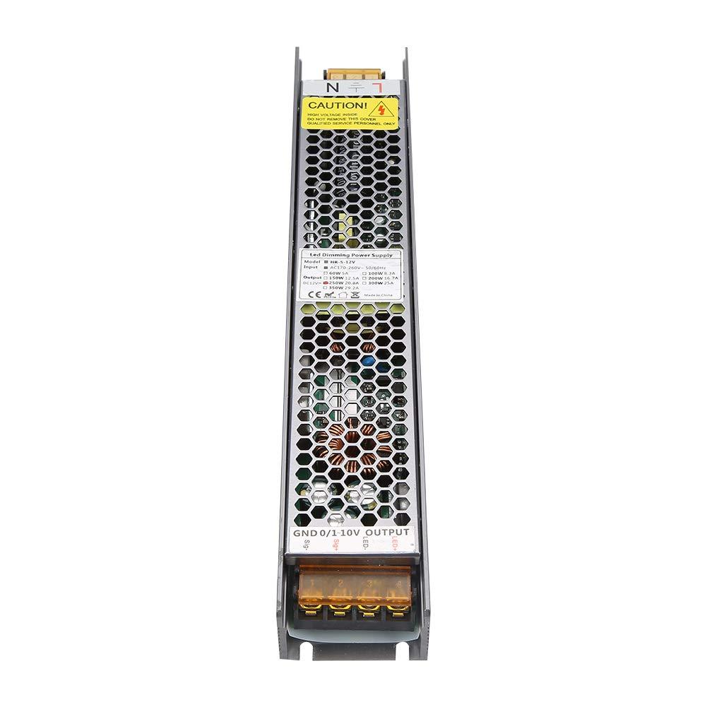 12V 20,8A 24V 20.8A LED Netzteil 10.4A Dimmbarer Transformator PWM LED Dimmbare Stromversorgung 250W 12V