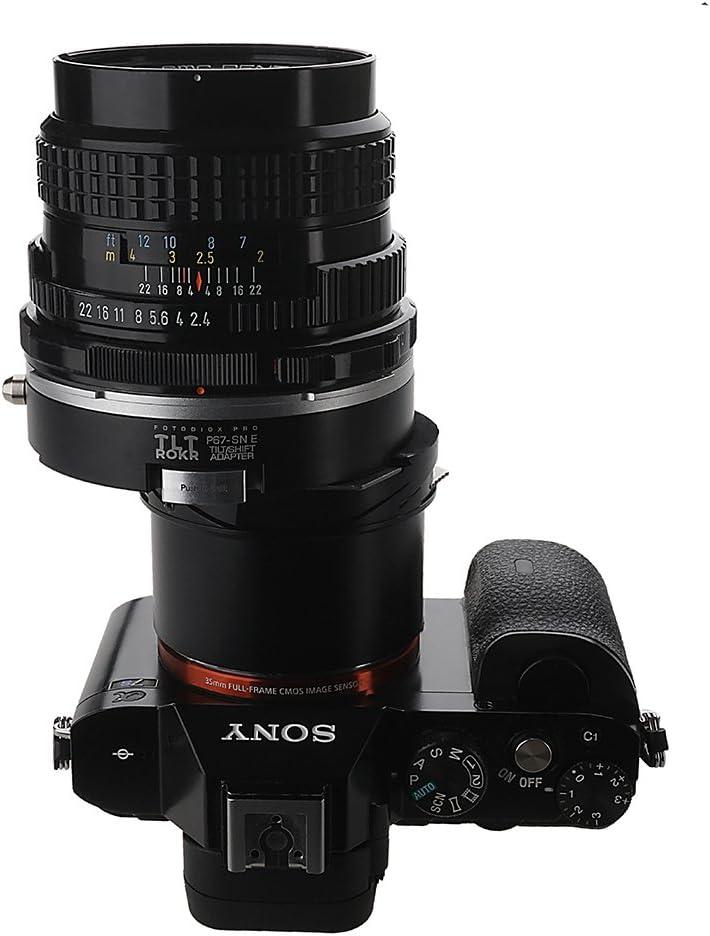 Tilt//Shift Lens Mount Adapter for Pentax 6x7 Fotodiox Pro TLT ROKR Mount SLR Lenses to Sony Alpha E-Mount Mirrorless Camera Body P67, PK67