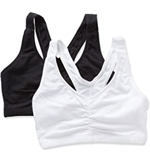 47e8654fe975c Bestform Contrast Stitch Shirred Front Bra 2 Pack at Amazon Women s ...