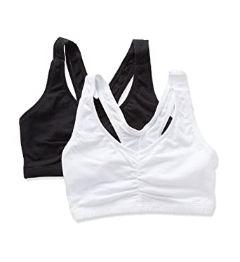 07b1a38e0dba2 Bestform Low Impact V-Neck Bra 2-pack at Amazon Women s Clothing store