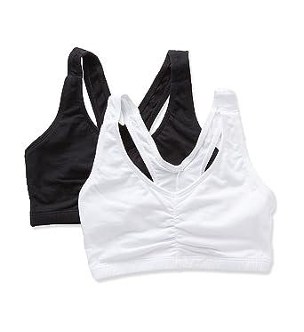 5c0749abd8b9a Bestform Low Impact V-Neck Bra 2-pack at Amazon Women's Clothing store: