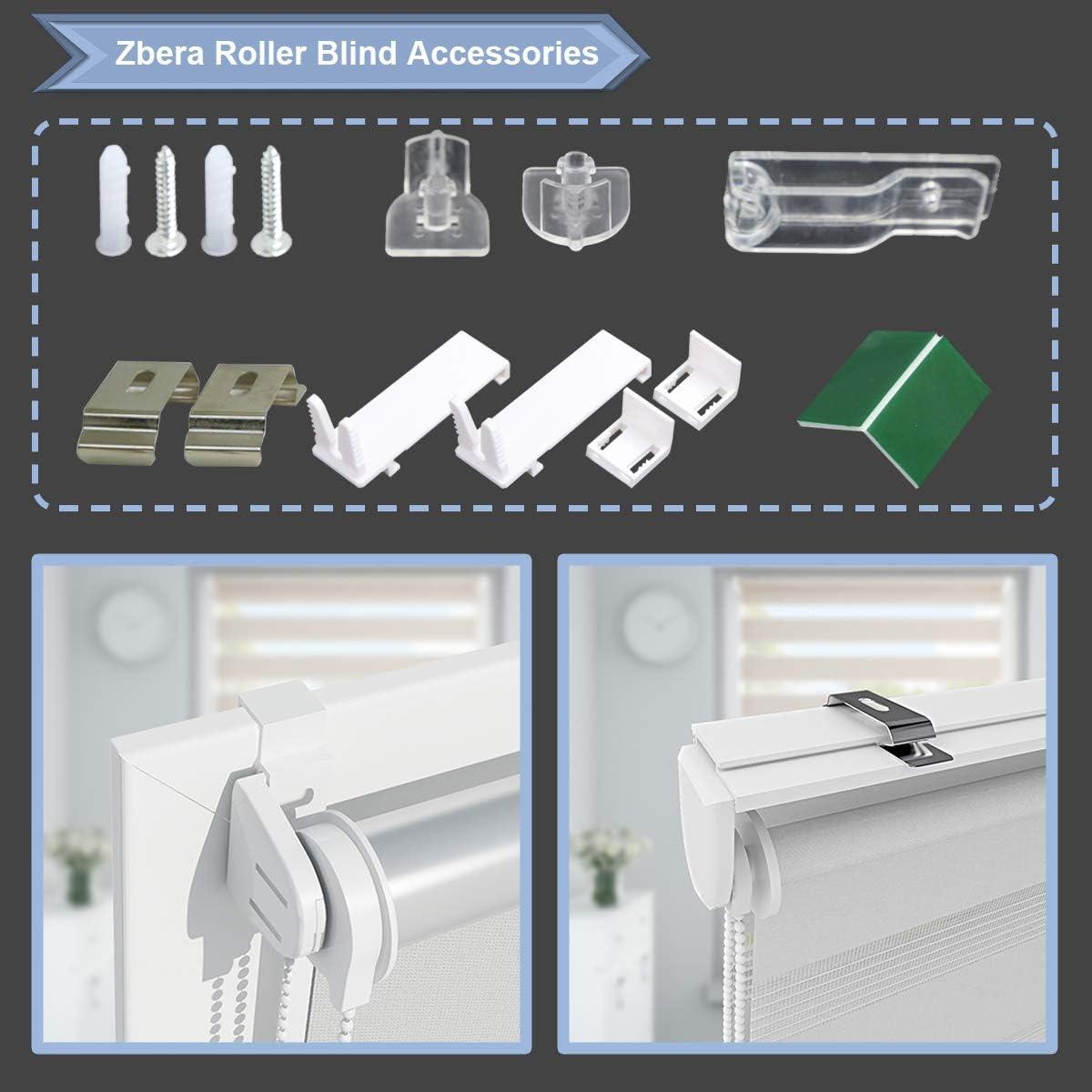 Vert 100 x 150cm sans per/çage Facile /à Installer avec Clips Hunter Mason Store Enrouleur Jour Nuit de Double Tissu pour Fen/être ou Porte 2 Types dInstallations