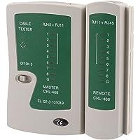 Comprobador de cable de red LAN RJ45, RJ11 y RJ12 con mando a distancia