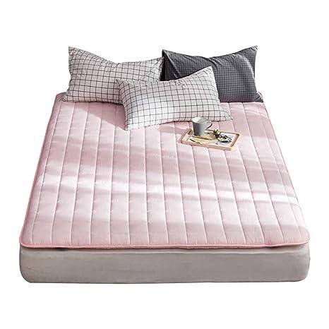 GJFLife Plegable Algodón Tatami Protector de colchón Topper, Espesado Dormitorio estudiantil Cama alfombras Protector Cubierta