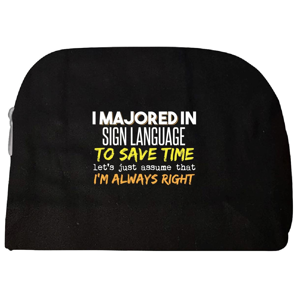 Majored In Sign Language School Grad Major Graduation Gift - Cosmetic Case