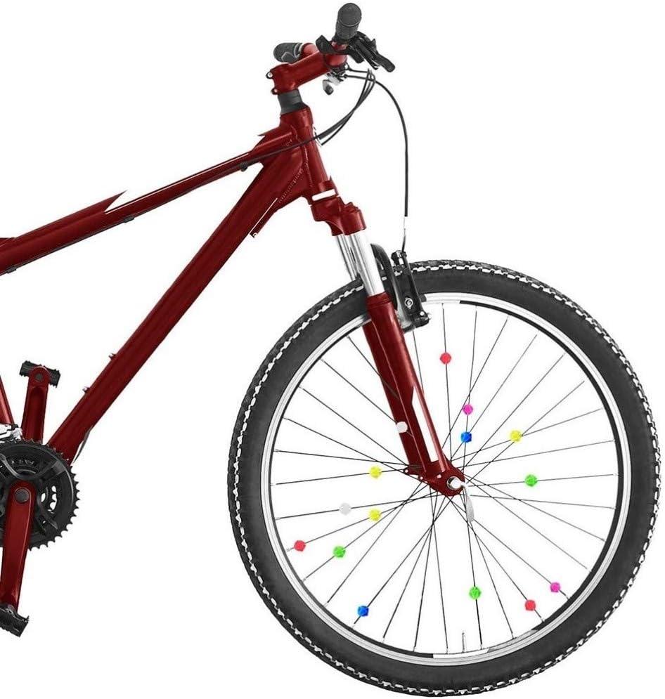 LIOOBO 36 Piezas Cuentas de Radio de Bicicleta Luminosas Clip de Radio Cuentas de Alambre Decoraciones de Bicicletas
